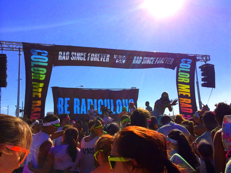 Color Me Rad finish