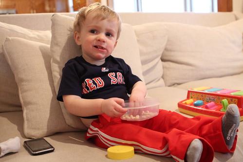 Sick Martin Eating Breakfast