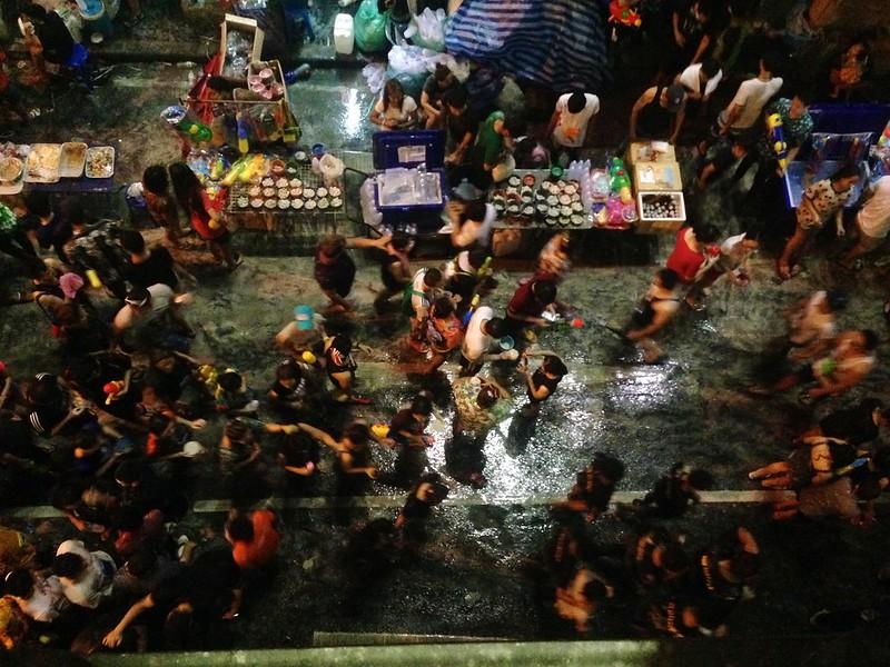 Songkran. Silom Road - Bangkok, Thailand. 11