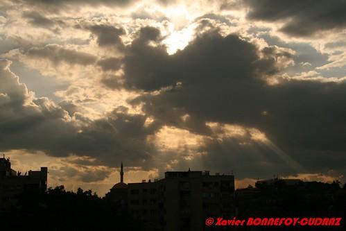 sunset skopje macedoine