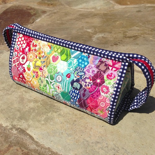 Rainbow Hexie Sew Together Bag
