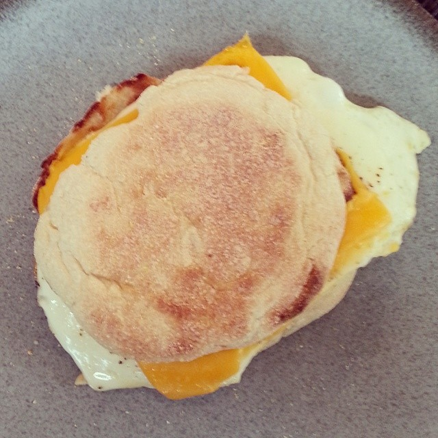 Starting the morning off right #eggandcheese #breakfast