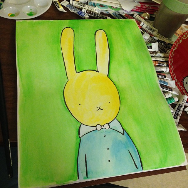 Bunny #painting progress.