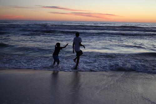sunset beach silhouette sunrise sand pcb panamacitybeach