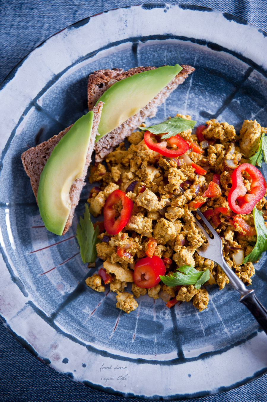 Tofu scramble, indian way