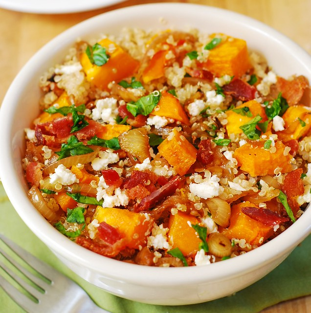Quinoa Salad with Bacon & Roasted Butternut Squash