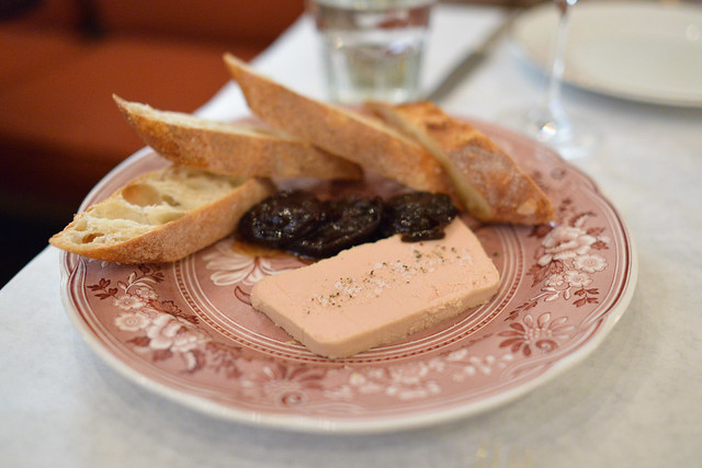 Terrine de Foie Gras sweet and sour prunes, baguette, fleur de sel