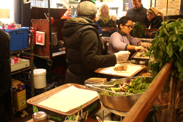 Food at the Greenwich Market, Greenwich