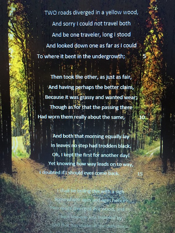 The Road Not Taken- Robert Frost