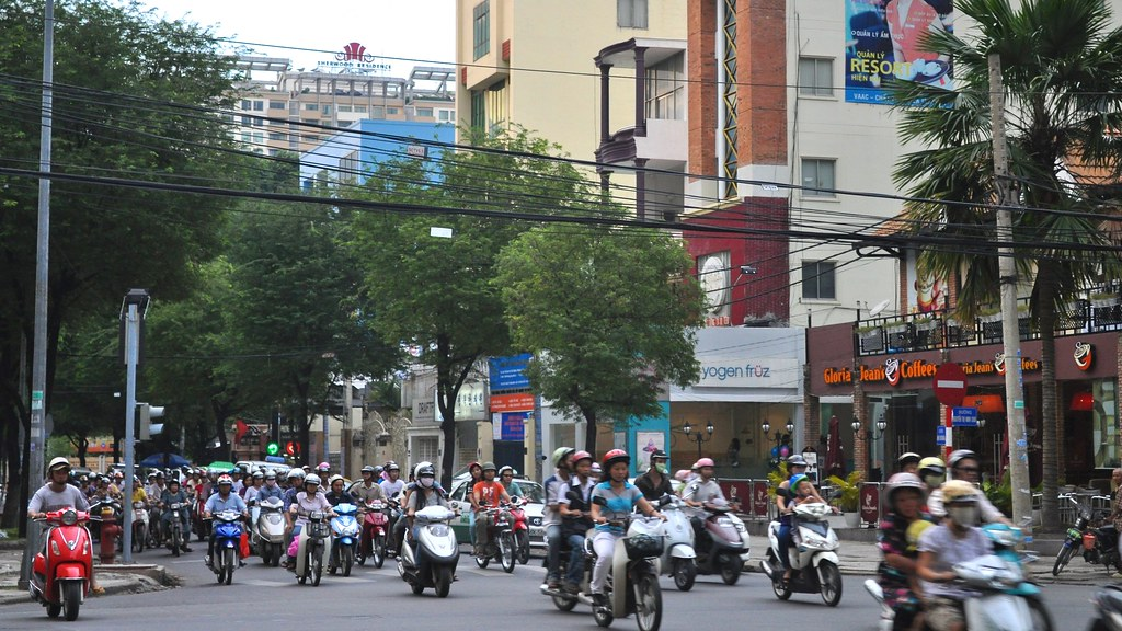 Peak hour traffic, Ho Chi Minh City, Vietnam