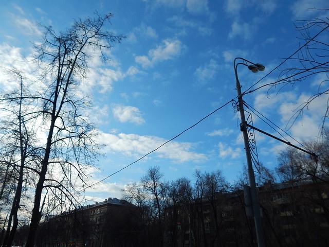 весеннее небо в феврале