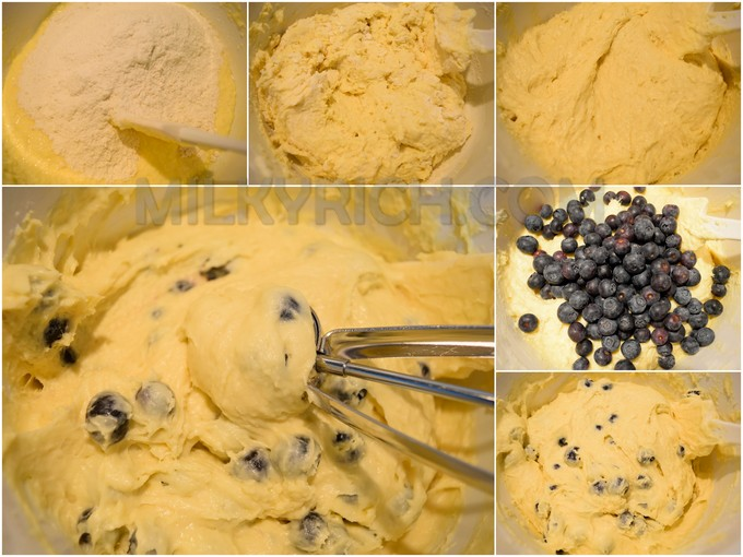 Trộn bột - blueberry muffins - 6