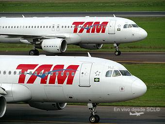 TAM A319 y A320 en GRU (E.Moura)