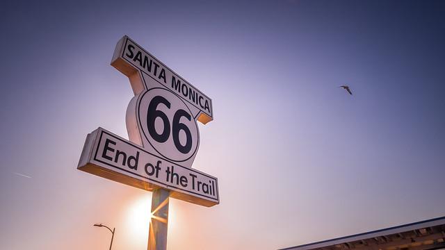 Route 66 sign - Santa Monica, Los Angeles - Travel photography