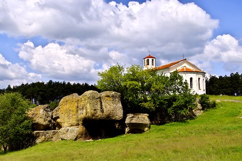 trees sky church landscape outdoor bulgaria