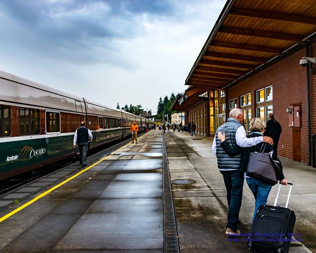 Amtrak Cascades at Mt. Vernon Station