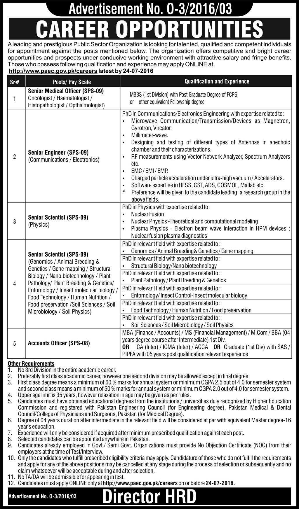 Pakistan Atomic Energy Commission Jobs