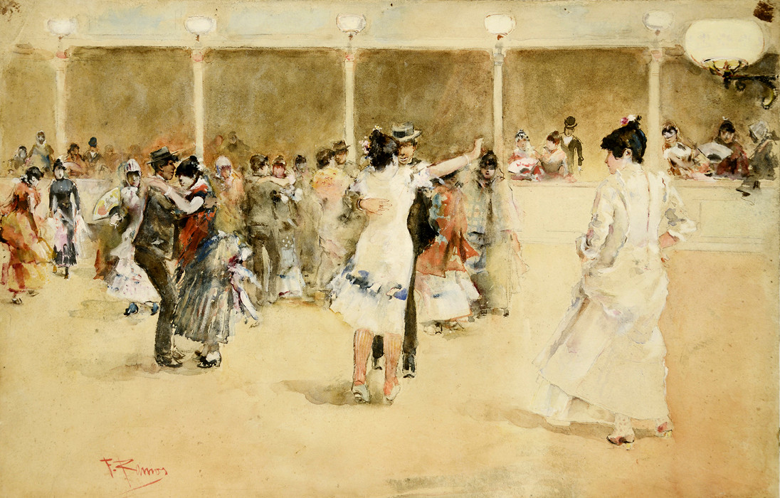 Dance Hall by F. Famos, 1900