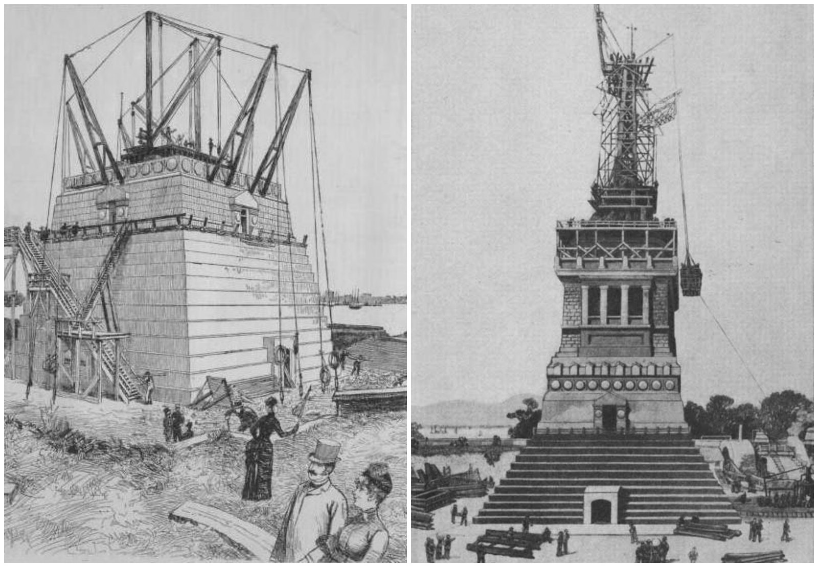 The American Committee charged with building the pedestal for the Statue of Liberty didn't complete it until May 1886—10 years after the centennial of the Declaration of Independence.