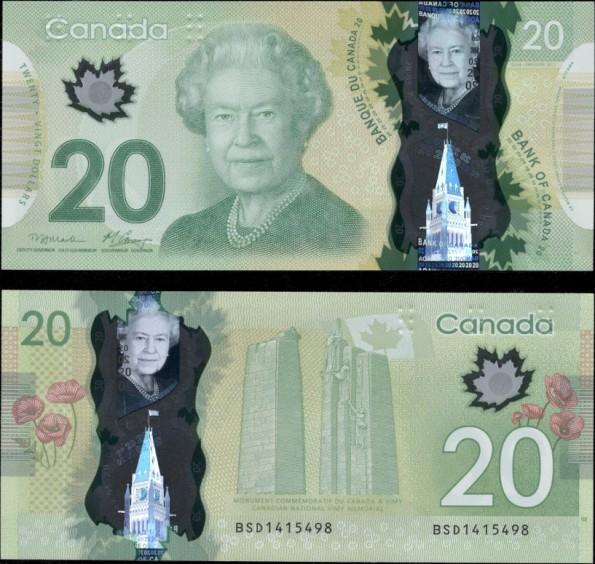 *20 Dolárov Kanada 2012, polymer