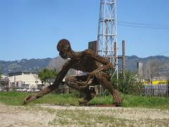 """Giant Steel Sculptures (""""Crude Awakening"""") - Oakland, CA"""