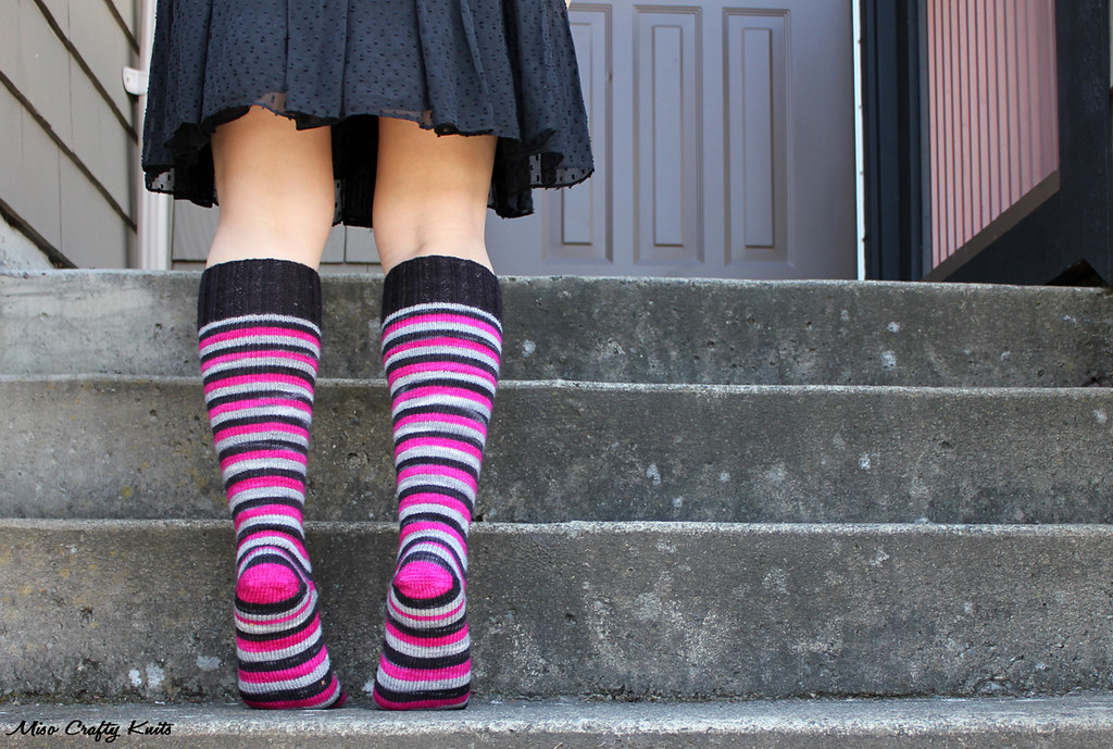 Domestic Badass Knee Socks Back Heel Blogged Wwwmiso