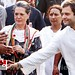 Congress workers greet Sonia Gandhi, Rahul Gandhi 03