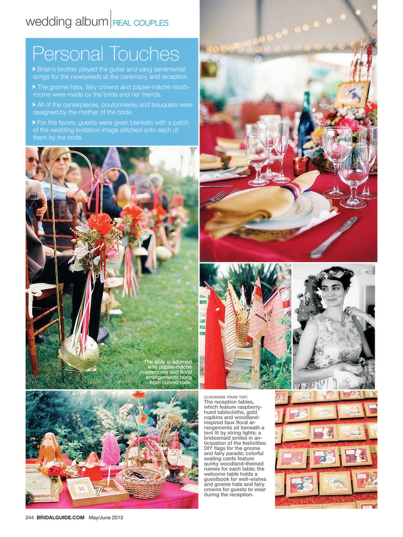 Bridal Guide Magazine Wedding Album feature
