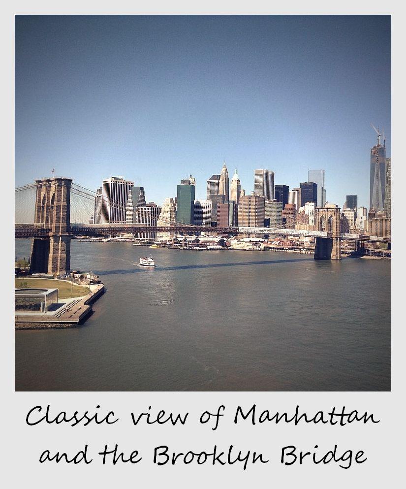 polaroid of the week new york brooklyn bridge and skyscrapers