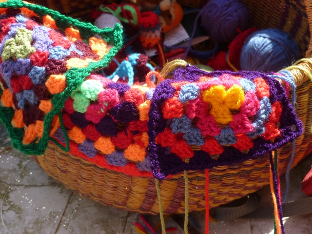 A Basket full of leftover yarn