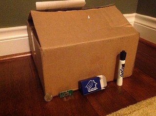 The huge box the Razberry GPIO Daughter card came in