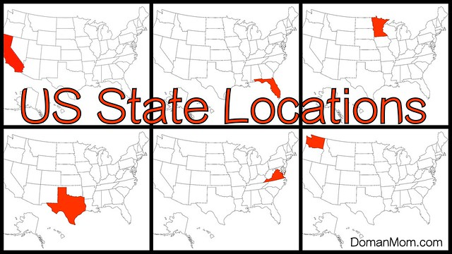 Learn the Locations of the 50 States with This Free, Quick Flash Card Video