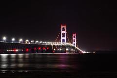 Mackinac Bridge at midnight