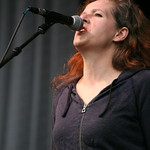 Neko Case on the big stage Saturday at MASS MoCA. Photo by Laura Fedele