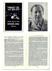 Frihet og Liv er ett - Sanger, Dikt og Taler av Nordahl Grieg 1940-43