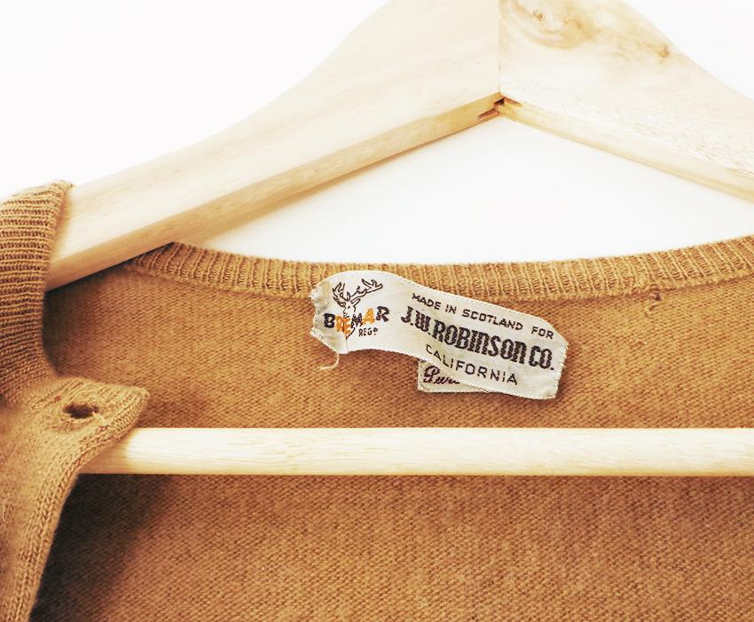 tan cashmere vintage cardigan c