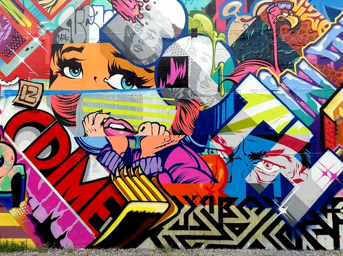 Pose, Revok & Rime on Bowery and Houston by LoisInWonderland