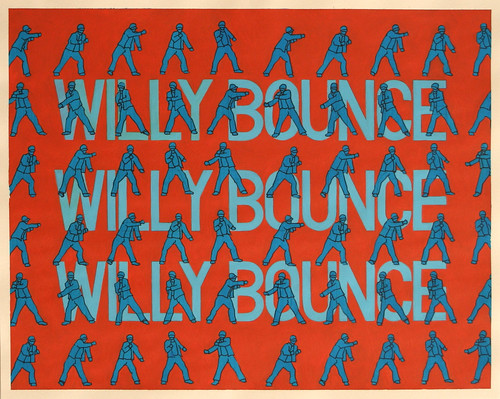 Willy Bounce, Acrylic & Ink on Paper, 50 cm x 40cm