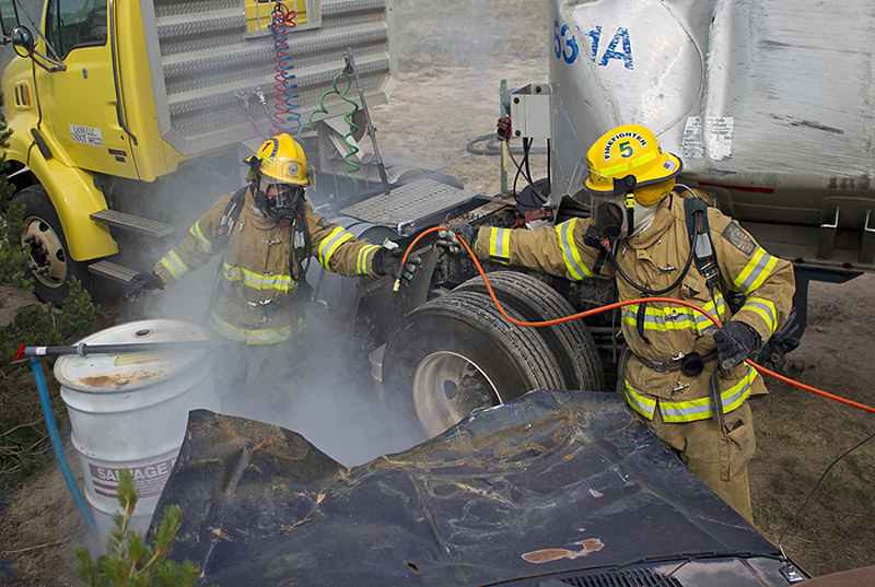 The Edmond, Okla. hazardous materials team competing in the 2012 Hazmat Challenge.