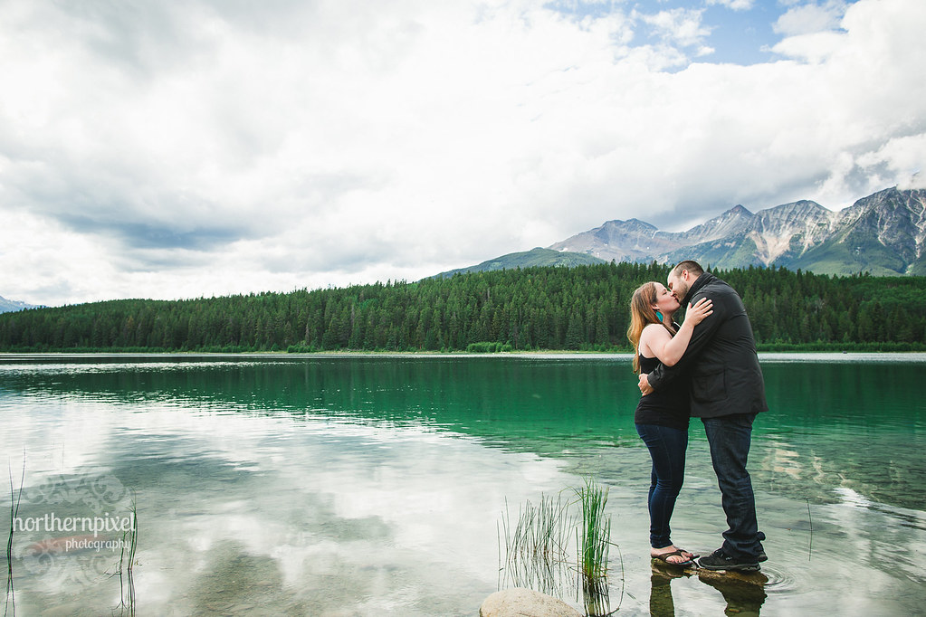 Patricia Lake Engagement Session - Jasper Alberta Elopement Wedding