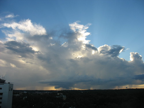 a line of showers as the sun sets by freestone