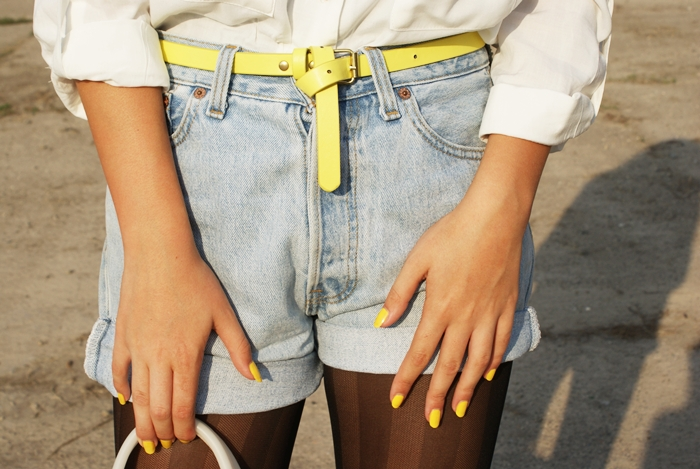 Jeansowe szorty vintage