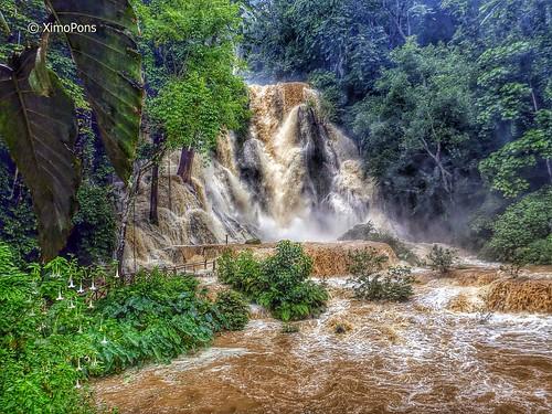 fall asia falls cataratas laos lao luangprabang indochina ximopons catarataskuangsi