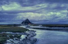 Blue hour over the Mont Saint-Michel