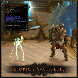 Diablo III for PS3: Leoric's Gauntlets (exclusive PlayStation item)