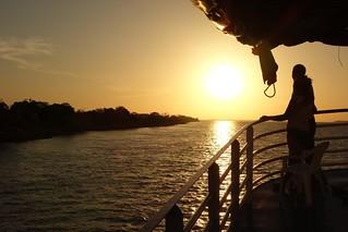 Por do Sol Rio Amazonas Brasil