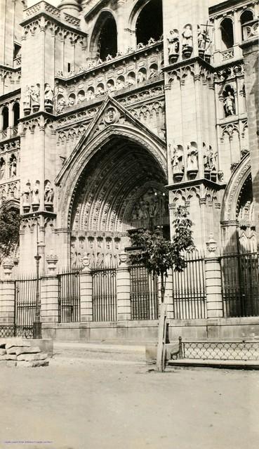 Catedral de Toledo en 1927. Fotografía de Joaquín Turina © Fundación Juan March