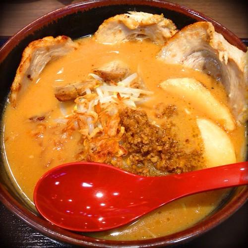 また来たよ!麺場 田所商店にて「北海道味噌 味噌漬け炙りチャーシュー麺」を食す♪