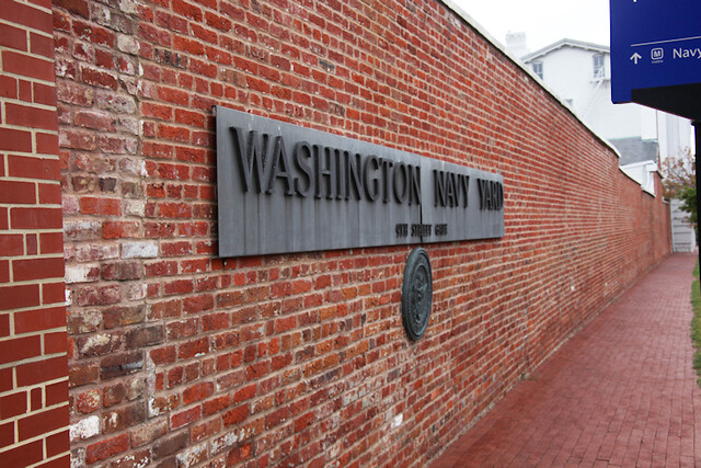 Washington Navy Yard sign - M Street Entrance
