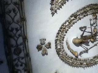 Bones in the decoration of the crypt at the Capuchin Monastery